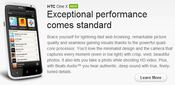 HTC One X S720E with Beats Audio on sale now!